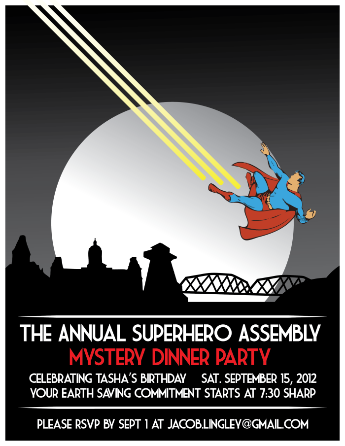 Super Party Invitation